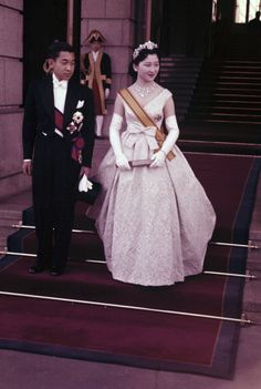 Tea Time at Winter Palace:  Wedding of Crown Prince Akihito of Japan to Michiko Shoda (now Emperor and Empress) on April 10, 1959