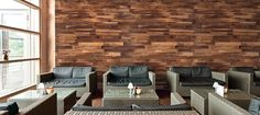 Finium Harvest Summit (Walnut) wall panels #wallpanels #woodwallpanels # bardesignideas #officedesignideas #hospitalitydesign #diningroomideas #interiordesign