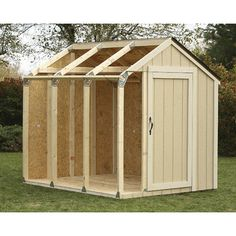 Features:  -Materials cut list included.  -Easy assembly instructions included.  -Roof shed kit.  -Custom fit shed in any way.  -No angle cuts, only straight 90º cuts required.  -Brackets are galvaniz