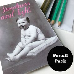 Some people are just too lovely aren't they? So let them ooze their niceness out of a set of 'Sweetness & Light' pencils. $10.00 Some People, How To Plan, How To Make, Stationery, Pencil, Sweet, Stationeries, Stationery Shop, Paper Mill