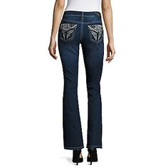 Love Indigo Wing-Back Flap-Pocket Jeans at JCPenney
