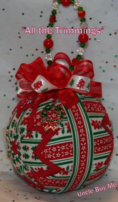 Quilted Ornaments Quilt Ball Ornaments Christmas by unclebuyme, $22.00