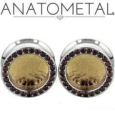 Gemmed Eyelets with Hammered Bronze Inserts from Anatometal. Photo by Anatometal.