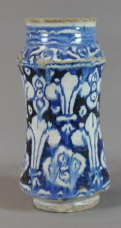 badly fired pharmacy jar, 15th c Valencia Inventario: FC.2014.02.08