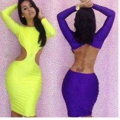 Shop Women's size S Dresses at a discounted price at Poshmark. Description: summer-Sexy-Long-Sleeve-Backless-Bandage-Dress-Neon-Clubwear-Dresses-Bodycon-dress-women-dresses. Sold by itsengraved. Fast delivery, full service customer support.