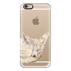 iPhone 6 Plus/6/5/5s/5c Case - Sleeping Fennec Fox ($40) ❤ liked on Polyvore featuring accessories, tech accessories, iphone case, iphone cover case, slim iphone case and apple iphone cases
