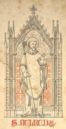 Aelred of Rievaulx English Cistercian monk, abbot of Rievaulx from 1147 1874 The Historians of Scotland: The Lives of S. Ninian and S. Catholic Saints, Patron Saints, Roman Catholic, English Reformation, Historical Fiction Authors, Religious Photos, Sign Of The Cross, St Bernard Dogs, Beautiful Prayers