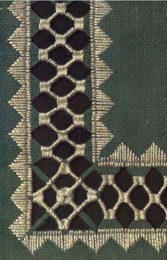 hardanger embroidery Pattern from the DMC Drawn Thread Work e-book on Antique Pattern Library. This is a level of drawn-work that I think I could actually manage. Types Of Embroidery, Hand Embroidery Stitches, Ribbon Embroidery, Cross Stitch Embroidery, Embroidery Patterns, Doily Patterns, Drawn Thread, Thread Work, Hardanger Embroidery