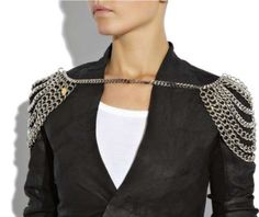 Shoulder Chains - Multi-Chain Metal Epaulets are Shoulder Pads With Style (GALLERY)