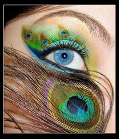 The eye of a peacock. This would be cute for adult face painting!