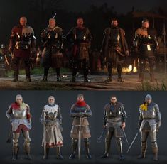 Kingdom Come: Deliverance (Robard of Talmberg, Divish of Talmberg, Radzig Kobyla, Hanush of Leipa, Captain Bernard) - MordhauFashion Kingdom Come Deliverance, Mish Mash, Dark Elf, Medieval Armor, The Witcher, Toolbox, Dungeons And Dragons, Weapons, Knight