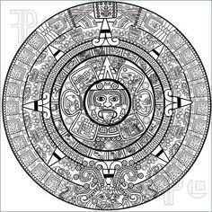 Mayan Calendar Clipart #1