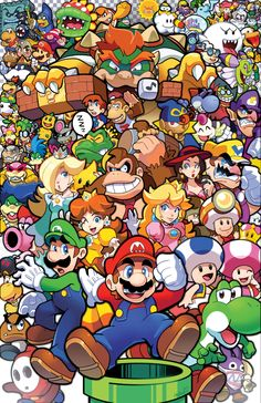 Super Mario World, Super Mario Games, Super Mario Art, Image Mario, Super Mario Brothers, Mario Party, Mario And Luigi, Video Game Characters, Video Game Art