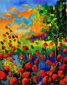 poppies 451150 Pictures: Posters by Pol Ledent at Posterlounge.co.uk