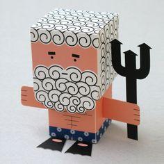 Poseidon paper toy