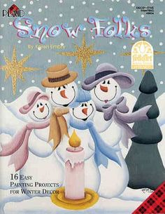 Free Gourd Patterns To Print | Snow Folks by Karen Embry Whimsical Tole Paint Book - Holiday and ...