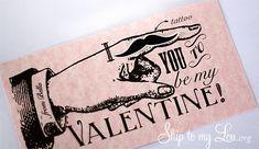 Mustache Valentines {free printable}