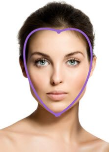 heart face shape Do: - add width at jawline -leave fullness at the nape that can be viewed from the front Don't: -add width at forehead or cheekbones Rectangle Face Shape, Oblong Face Shape, Oval Face Shapes, Oval Faces, Square Faces, Oval Shape, Heart Shaped Face Hairstyles, Oblong Face Hairstyles, Pale Skin Makeup