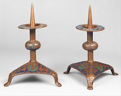 Pricket Candlesticks, 1180.