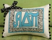 Alpha Delta Pi Sorority Greek Symbol Lumbar Pillow