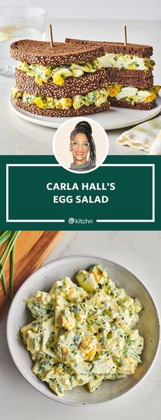 Best Egg Salad Recipe, Easy Salad Recipes, Egg Recipes, Brunch Recipes, Cooking Recipes, Diabetic Recipes, Food Network Recipes, Food Processor Recipes, Cooking