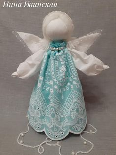 Handmade Angels, Fabric Dolls, Doll Toys, Christmas Ornaments, Holiday Decor, Crafts, Bottle, Angels, Baby Dolls