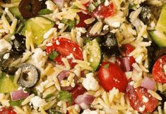 Orzo Salad Recipes With Chicken.Greek Orzo Salad With Feta Cooking Classy. Arugula Spinach Pesto Orzo Salad Table For Two By Julie . Greek Orzo Salad, Greek Pasta, Greek Spaghetti, Feta, Shawarma, Greek Recipes, Indian Food Recipes, Orzo Salad Recipes, Food Salad