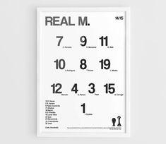 Real Madrid CF 2014-2015 Football team squad by NazarDes on Etsy Champions League  Carlo Ancelotti  La Liga Fifa Club World Cup  Cristiano Ronaldo  Gareth Bale  James Rodriguez  Toni Kroos  FCRM