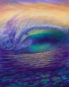 Surf Art by Clark Takashima Ocean Art, Ocean Waves, Vertical Horizon, Waves Photography, Posca Art, Surf Art, Nature Wallpaper, Beach Art, Watercolor Art