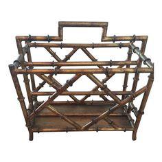 Image of Iron & Gold Bamboo Magazine Rack
