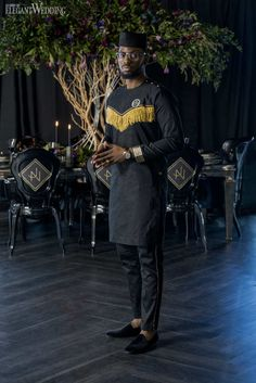 This dark and regal Black Panther wedding style shoot takes the blockbuster film to a whole new level. Using a palette of black, gold and purple. Blockbuster Film, Black Panther Party, Minimal Wedding, Let's Get Married, Jacob Black, Groom Attire, My Prince, Wedding Inspiration, Wedding Ideas