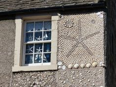 Close-up of the Shell House, Anstruther - we pass here to cross the Dreel Burn at Anstruther while walking the Fife Coastal Path between Elie and Crail.