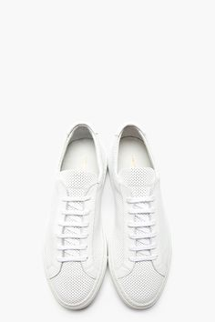 COMMON PROJECTS White PERFORATED Leather ORIGINAL ACHILLES Sneakers