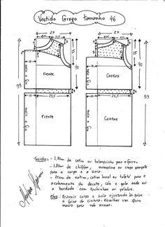 vestido griego talla 46