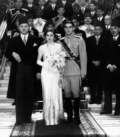 March 15, 1939 file photo - Prince Shahpur Mohammed Biza, right, nineteen-year-old Crown Prince of Iran, marries Princess Fawzia, sister of King Farouk of Egypt, left, in Cairo. Princess Fawzia, a member of Egypt's last royal family and the first wife of Iran's later-deposed monarch, has died, Iranian opposition groups said. She was 92. Fawzia died on 3 July 2013 in Egypt's Mediterranean port city of Alexandria