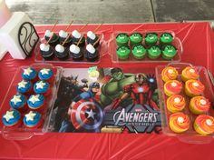 Avengers cupcakes                                                                                                                                                      More