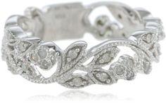 10k White Gold White Diamond Ring (.25 cttw, H-I Color, I1-I2 Clarity), Size 6