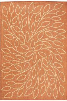 "Persimmon Area Rug #4248610860 Size: 3'9""x5'5"" Color: Terracotta  $59.00"