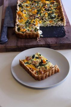 Something Sweet, Gluten Free Recipes, Vegetable Pizza, Quiche, Nom Nom, Good Food, Food And Drink, Veggies, Bread