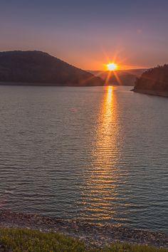 Sonnenaufgang an der Sösetalsperre im Sommer 2015 -vollkommene Stille :-)