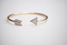 India Hicks Arrow Cuff:  18kt vermeil and diamond arrow cuff