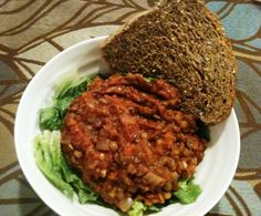Easy Vegetarian Sloppy Joes - Lentil Sloppy Joes -  Have it the classic way on a roll or on a salad!