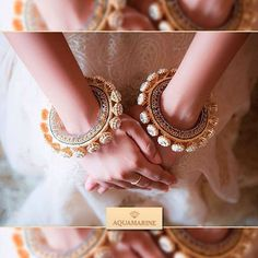 These extravagant bangles are the best accessories to go with your traditional outfit. Beautifully crafted to give the most unique and outstanding look. Buy them at Aquamarine. #aquamarine_jewellery #jewellery #bangles #gold #accessories #weddingjewellery #indianjewellery #designerjewellery #mumbai #india #colaba #lokhandwala #aquamarinejewellery
