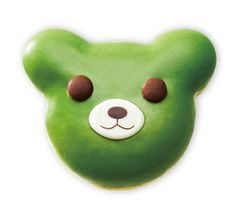 Kuma Matcha(Bear Green Tea) donut by mister donut