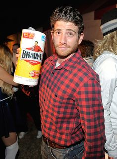 Don a flannel and dress up as the Brawny man.