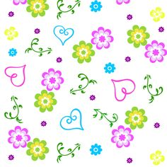 Love and flowers fabric by forestwoodfolkart on Spoonflower - custom fabric