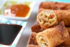 Chicken Egg Rolls - My gf tried these and said they were GREAT!