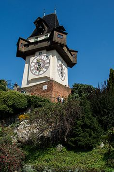 AUSTRIA - GRAZ - STEIERMARK - UHRTURM Austria, Big Ben, Clock, Building, Places, Pictures, Home Decor, Graz, Viajes