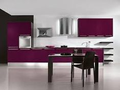 Get inspiration and ideas about purple kitchen design. Create colorful and beauty kitchen with purple kitchen design. Purple Kitchen Designs, Purple Kitchen Decor, Modern Kitchen Design, Kitchen Colors, Interior Design Kitchen, Home Design, Design Ideas, Design Inspiration, Kitchen Layout