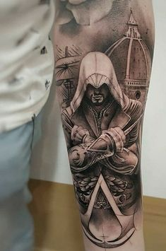 edward kenway tattoo by nikolay dzhangirov tatua e pinterest tatuagens fotos de tatuagens. Black Bedroom Furniture Sets. Home Design Ideas